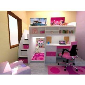 Cama doble con escritorio