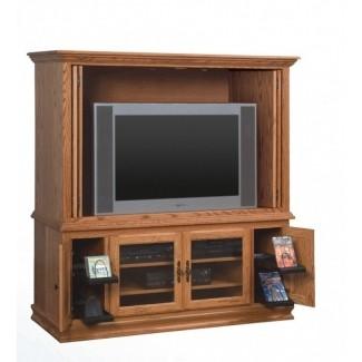 Muebles de televisión Heritage muebles de madera maciza de centro de entretenimiento hecho en amish