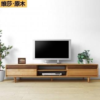 Mueble de televisión de madera maciza 2