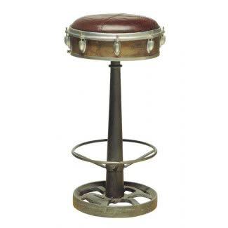 Taburete giratorio de tambor estilizado antiguo