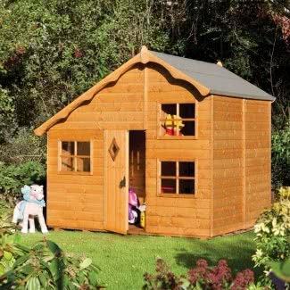 Swiss Style Cottage Casa de juegos con ventanas