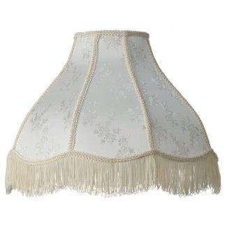 Sombra de lámpara de domo color crema festoneada 6x17x12x11 (Spider)