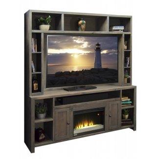 Legends furniture joshua creek 84 soporte de televisión con chimenea eléctrica