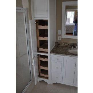Mueble de baño con cesto de ropa incorporado