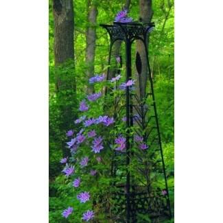 Obelisco de madera de jardín