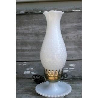 Lámpara de vidrio de leche