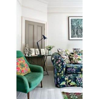 Sofá con estampado de flores
