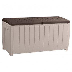 Banco de almacenamiento de resina para patio