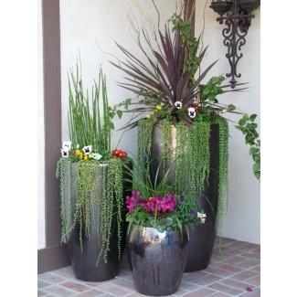 Jardineras altas de cerámica
