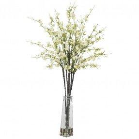 Flores de cerezo con jarrón Arreglos florales de seda