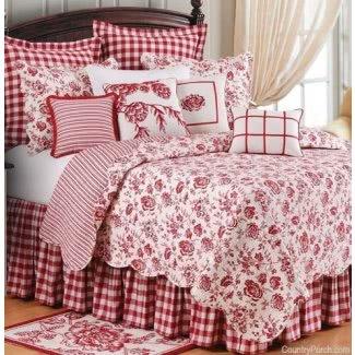 Ropa de cama de toile rojo