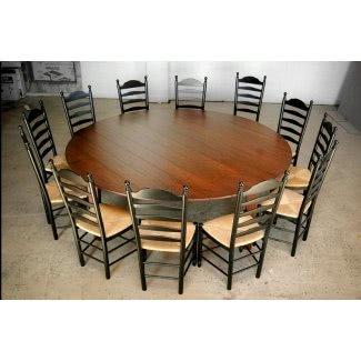 Mesa de comedor redonda para 12 personas