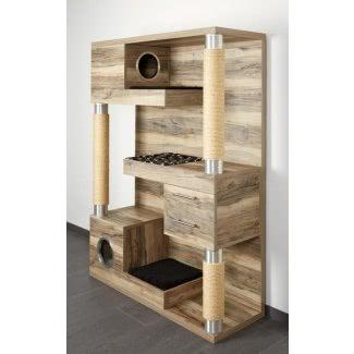 Mueble para gatos de madera maciza