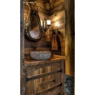Lavabos rústicos para baño 2