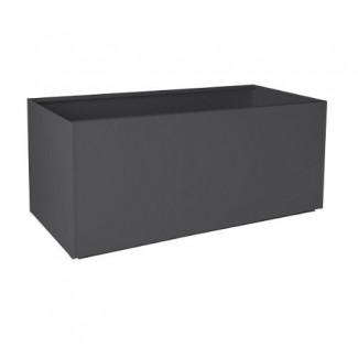 "Bonita maceta rectangular de aluminio gris carbón - 20 ""X46"" X20 """