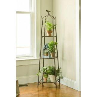 Soporte para plantas con gradas para interiores