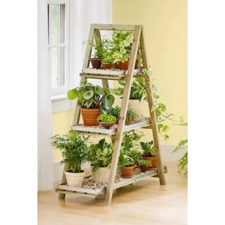 Soporte para plantas con gradas para interiores 1