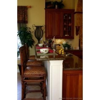 Mesa con isla de cocina de granito