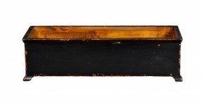 Jardinera rectangular francesa grande con patas de madera