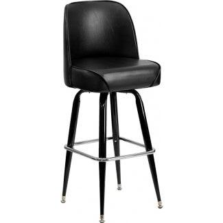 Taburete de bar de metal Flash Furniture con asiento envolvente giratorio