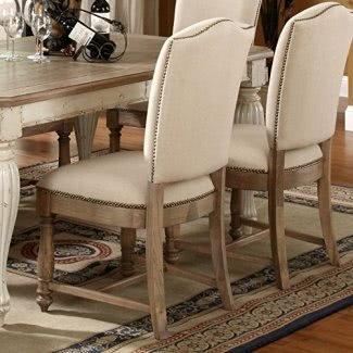 Riverside Furniture Sillas de comedor laterales Riverside Coventry - Juego de 2, blanco, madera