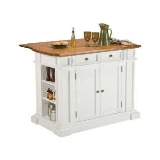 Isla de cocina rectangular con acabado de roble
