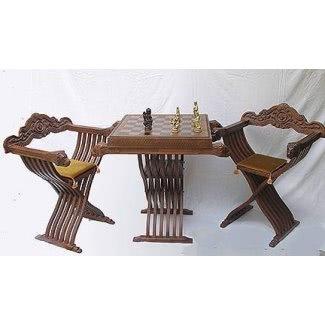 Mesa y sillas de ajedrez