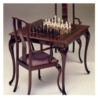 Mesas y sillas de ajedrez