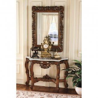 Juego de mesa consola y espejo Royal Baroque