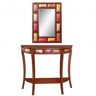 Mesa de vestíbulo con espejo
