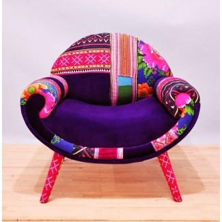 Smiley patchwork armchair 5