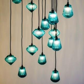 Lámparas colgantes de vidrio marino