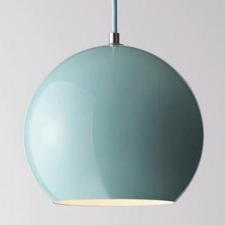 Lámparas colgantes de vidrio azul turquesa