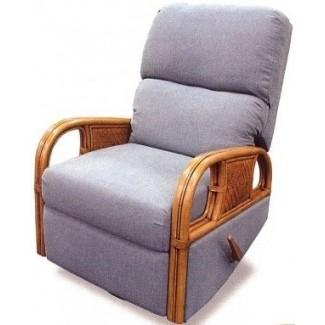 Salida de mimbre deslizador reclinable de ratán interior elliot