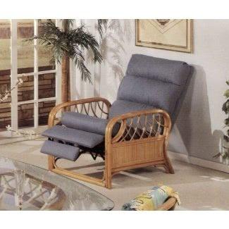 Silla reclinable para muebles tapizados en ratán Newton fabricada en EE. UU.