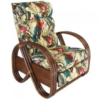 Silla reclinable para muebles tapizados en ratán Kailua Fabricada en EE. UU.