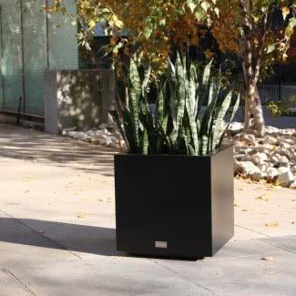 Jardinera de caja de cubo de acero galvanizado