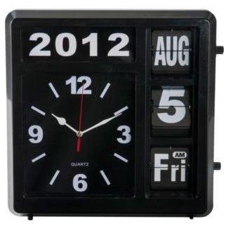 Reloj de pared con día y fecha