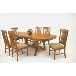 Mesa de comedor extensible con caballete laminado mesas de comedor modernas