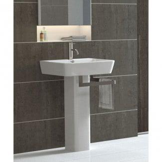 Lavabos de pedestal modernos para baños pequeños 1