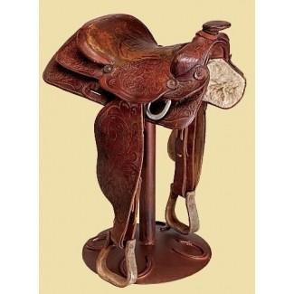 Taburete con forma de silla de montar para caballos