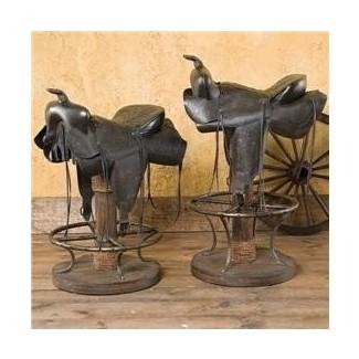 Taburetes con forma de silla de montar para caballos