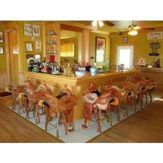Taburetes de bar con silla de montar para caballos