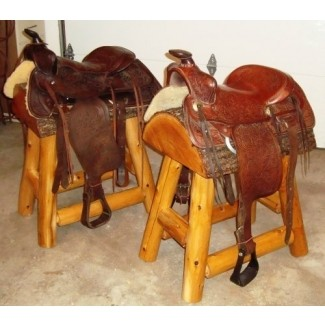 Taburetes de bar con silla de montar Western