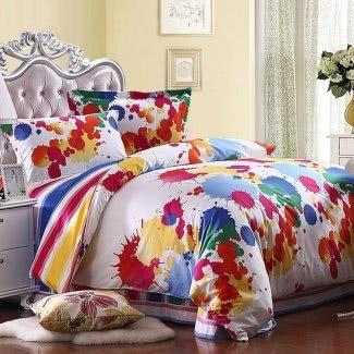 Juegos de ropa de cama de colores brillantes