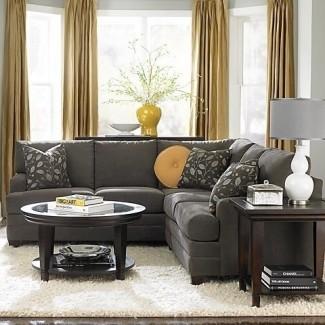 Decoración de sofá gris carbón