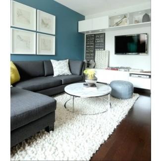 Sofá seccional gris grande