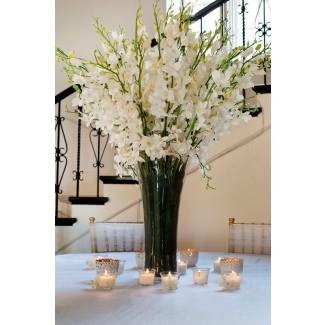 Arreglos florales en jarrones altos de vidrio [19659004] ❤️ </span></div> <p class=
