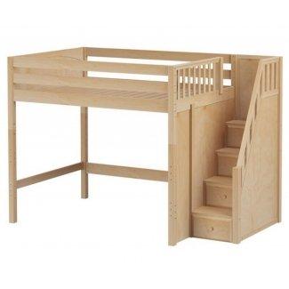Cama alta de tamaño completo con escaleras 2