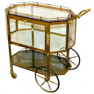 Carrito de barra para carrito de té de latón francés
